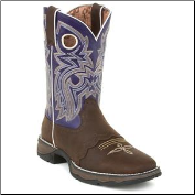 Durango Women's Ink Saddle-Lace Western-Purple RD3576