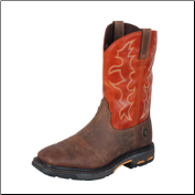 Ariat Work Hog Wide Square Toe Men's Work Boots - Dark Earth/Brick 10005888 (SKU: 10005888)
