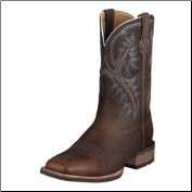 Ariat Men's Quickdraw Western Boots - Brown Oiled Rowdy 10006714 (SKU: 10006714)