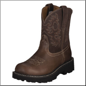 Ariat Women's Fatbaby Western Boots -Brown Rebel/Brownie 10000824