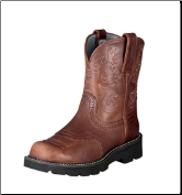 Ariat Women's Fatbaby Scalloped Saddle Western Boots - Russet Rebel 10000860 (SKU: 10000860)