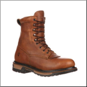 "Rocky Men's 8"" Rider Lacer Work Boots - Tan 2723"