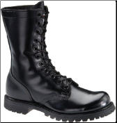 "Corcoran Men's 10"" Plain Toe Combat Boot with Lug Outsole-Black Leather 978"