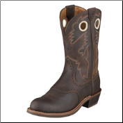 Ariat Women's Heritage Roughstock U Toe- Antique Brown 10001594