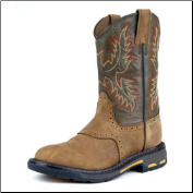 Ariat Boys Workhog Pull-On Kids-Aged Bark/Army Green 10007836