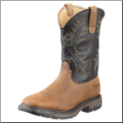 Ariat Men's Workhog Wide Square Steel Toe H2O - Aged Bark/Black 10010133 (SKU: 10010133)