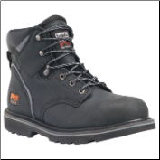 "Timberland PRO Men's Pit Boss 6"" Steel Toe Black Work Boot 33032"