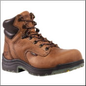 Timberland PRO Women's TiTAN Soft Toe Work Boot Coffee Full-Grain Leather 55398