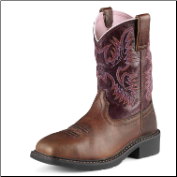 Ariat Women's Krista Pull-On ST- Dark Tan/Fig 10009494