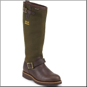 "Chippewa Men's 17"" Espresso Viper Cloth Briar Pitstop Waterproof Sportility Snake Boot 25110"