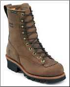 "Chippewa Men's 8"" Lace-To-Toe Logger Waterproof Steel Toe Boot-Brown 73101"