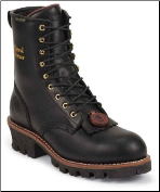 "Chippewa Women's 8"" Black Waterproof 400g Thinsulate Steel Toe EH Logger L73050"