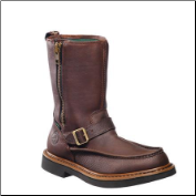 "Georgia Men's 10"" Side Zip Waterproof Wellington Boot - Copper Kettle Soggy G4124"