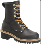 "Carolina Women's 8"" Women's Waterproof Steel Toe Logger-Black CA1420"