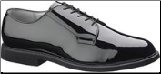Bates Men's Oxford High Gloss Leather Sole-Black - E00007