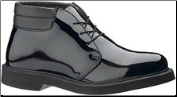 Bates Men's Lites High Gloss Padded Collar Chukka-Black E00053
