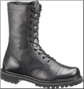 "Bates Men's 11"" Paratrooper Side-Zip Boot-Black - E02184"